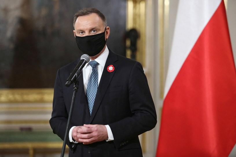 Prezydent Andrzej Duda / PAP/Leszek Szymański /