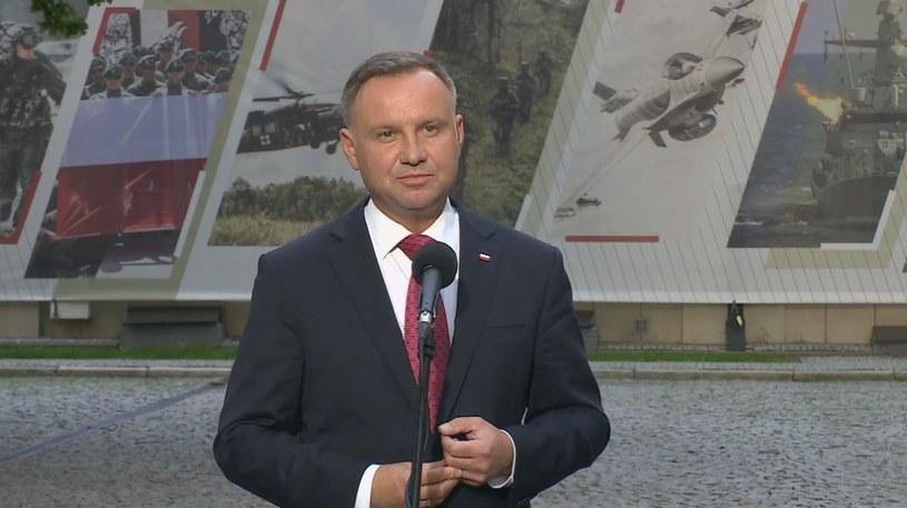 Prezydent Andrzej Duda /Polsat News
