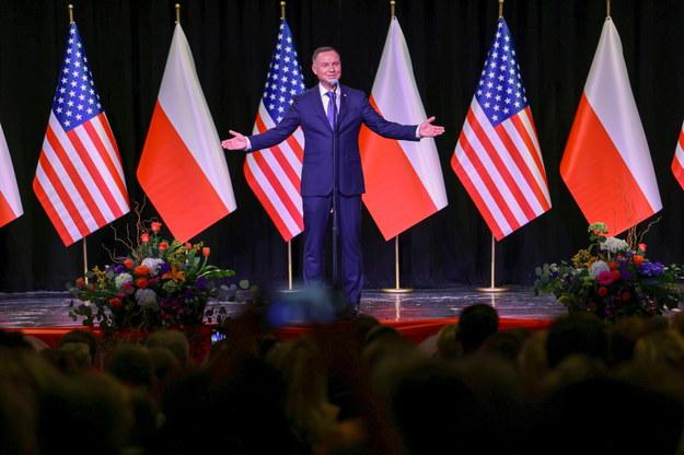 Prezydent Andrzej Duda /Grzegorz Jakubowski /PAP