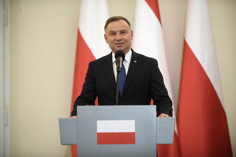 Prezydent Andrzej Duda / Marcin Obara  /PAP