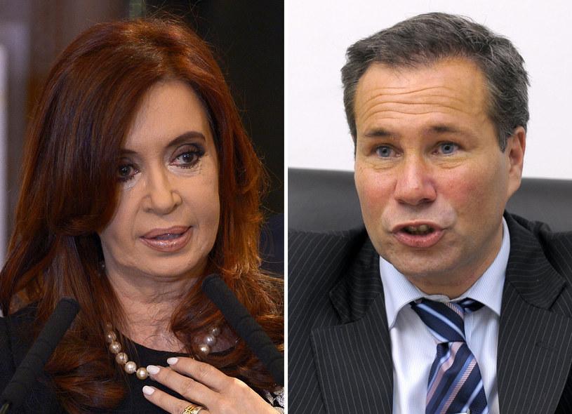 Prezydent Argentyny Cristina Fernandez de Kirchner i Alberto Nisman /AFP