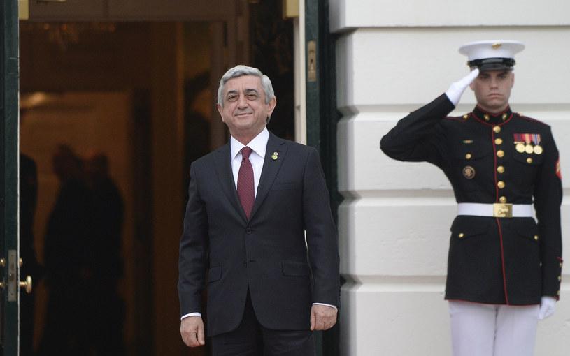 Prezydent Armenii Serż Sarkisjan /AFP