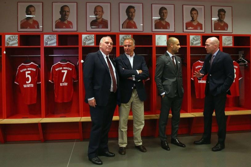 Prezydent Bayernu Monachium Uli Hoeness (z lewej) /AFP