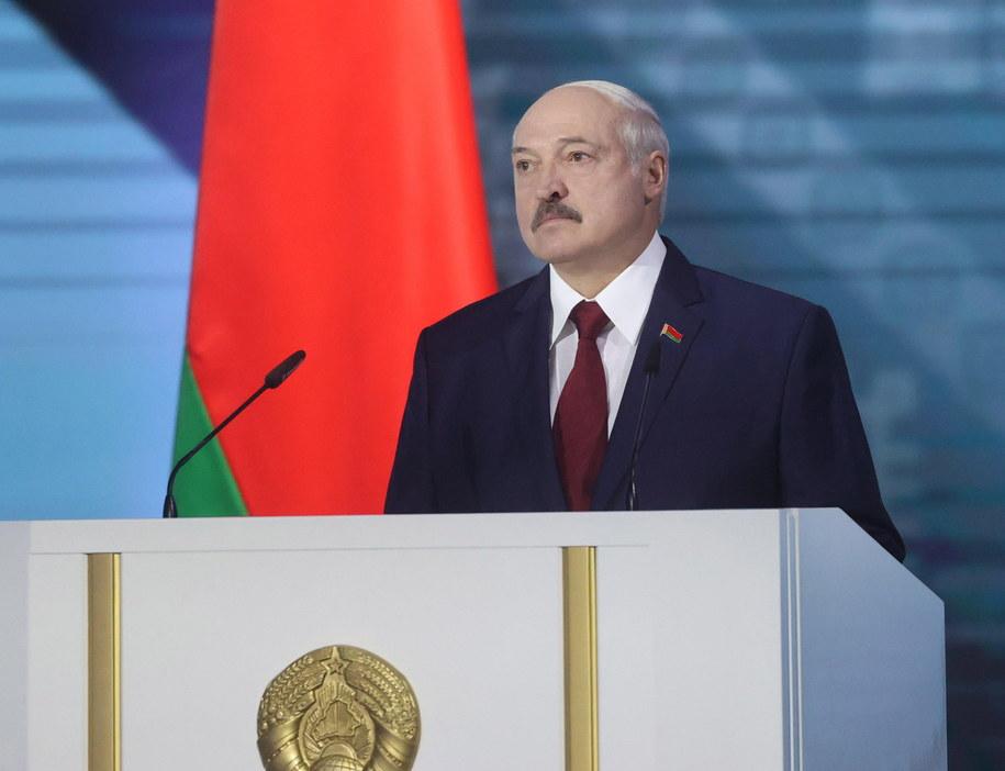 Prezydent Białorusi Alaksandr Łukaszenka /NIKOLAI PETROV / POOL /PAP/EPA