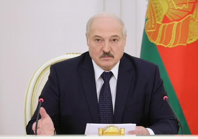 Prezydent Białorusi Alaksandr Łukaszenka /MAXIM GUCHEK / POOL /PAP/EPA