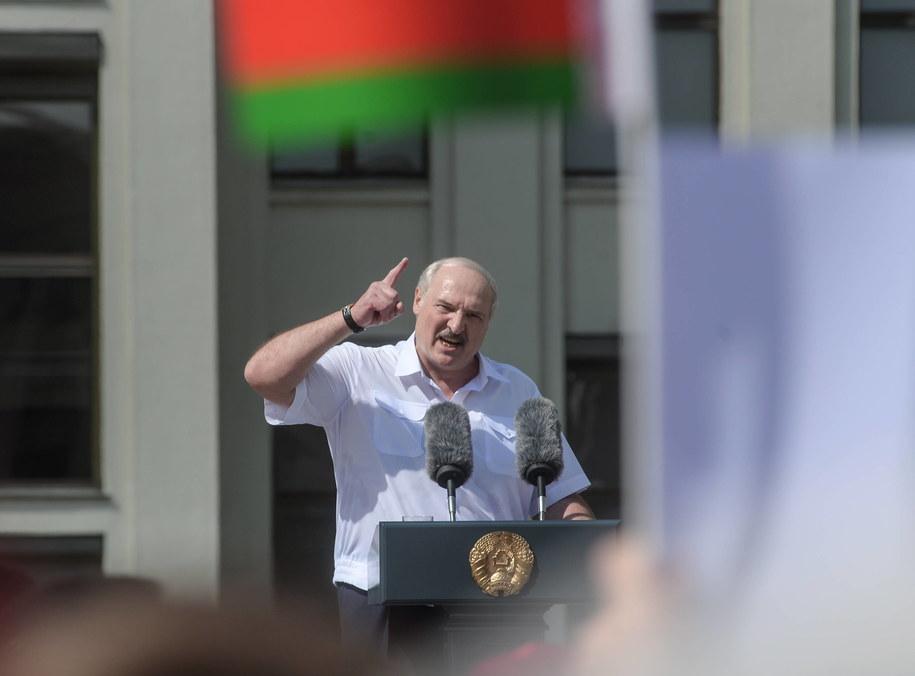 Prezydent Białorusi Aleksandr Łukaszenka /YAUHEN YERCHAK /PAP/EPA