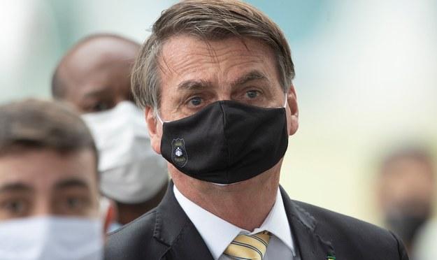 Prezydent Brazylii Jair Bolsonaro /Joedson Alves /PAP/EPA