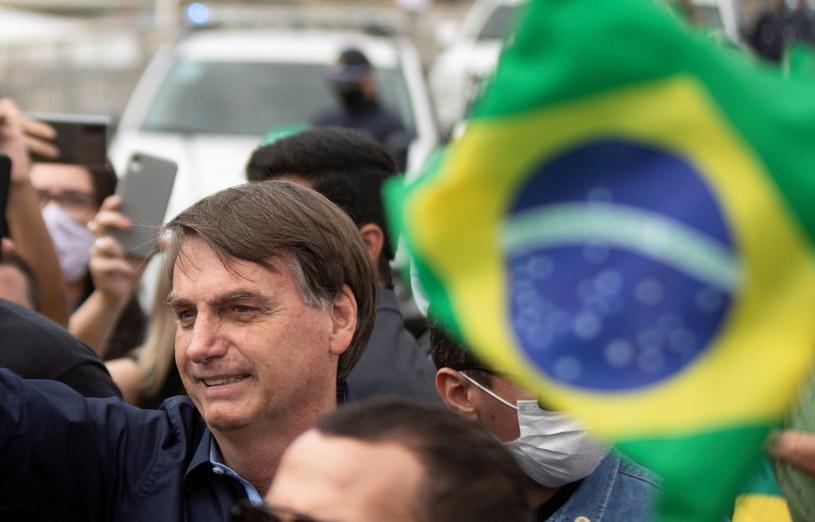 Prezydent Brazylii Jair Bolsonaro /Joédson Alves /PAP/EPA