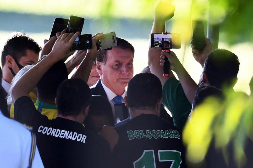 Prezydent Brazylii nie po raz pierwszy zaatakował słownie dziennikarzy /EVARISTO SA/AFP /PAP
