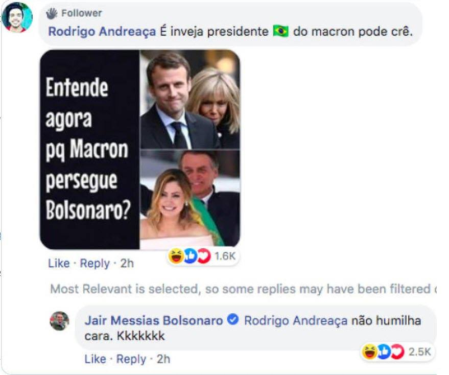 Prezydent Brazylii obraził żonę prezydenta Francji /Facebook /