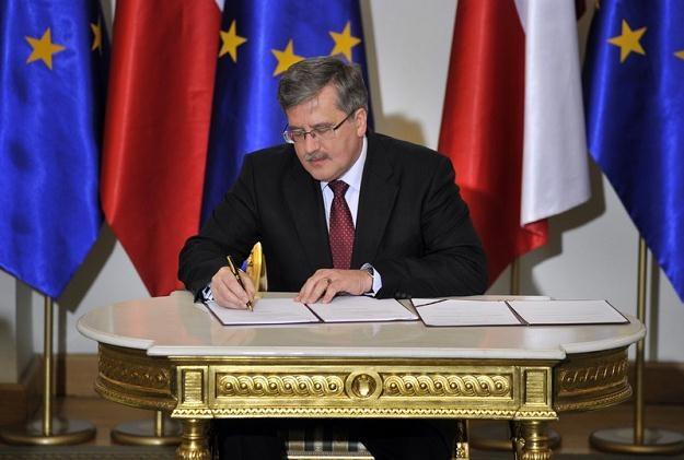 Prezydent Bronisław Komorowski / fot. P. Bławicki /East News