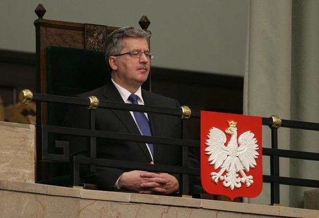 Prezydent Bronisław Komorowski / fot. S. Maszewski /Reporter