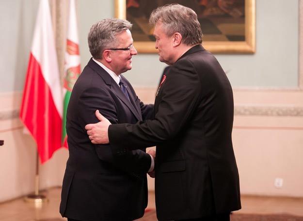 Prezydent Bronisław Komorowski i Krzysztof Cugowski (Budka Suflera) - fot. Tomasz Rytych /Reporter