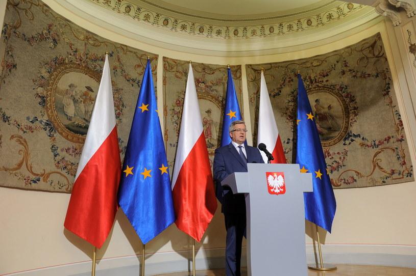 prezydent Bronisław Komorowski ogłosił termin wyborów parlamentarnych /Marcin Obara /PAP