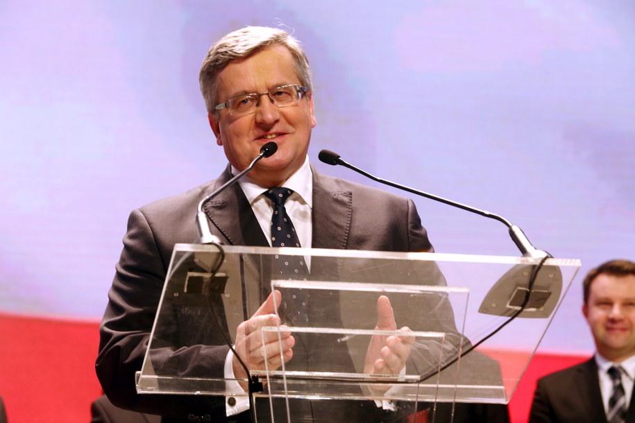 Prezydent Bronisław Komorowski spotkał się w sobotę z 29 prezydentami polskich miast, którzy podpisali deklarację poparcia dla niego /Marek Zimny /PAP
