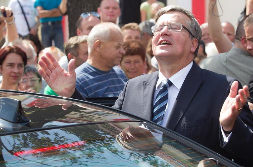 Prezydent Bronisław Komorowski w Olkuszu /Andrzej Grygiel /PAP