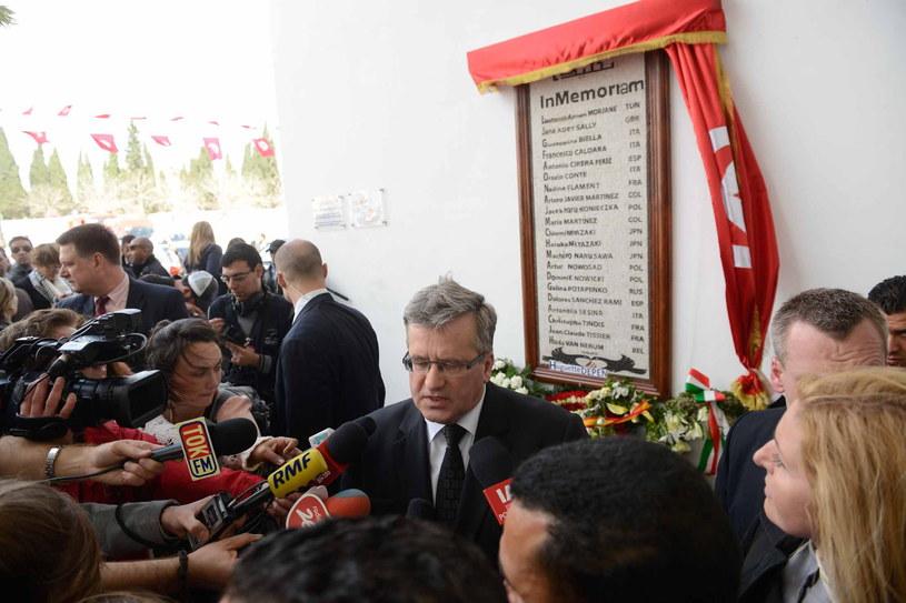 Prezydent Bronisław Komorowski w Tunisie /Jakub Kamiński   /PAP