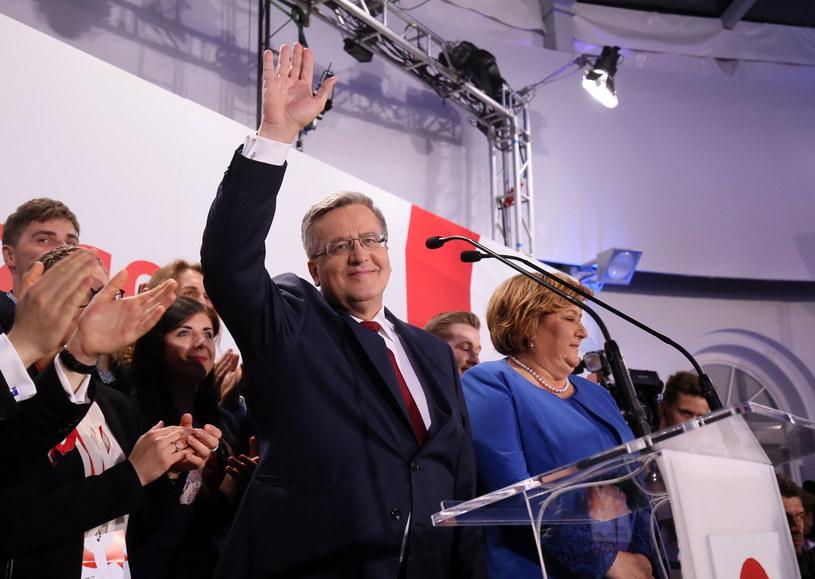 Prezydent Bronisław Komorowski z małżonką Anną Komorowską /Paweł Supernak /PAP