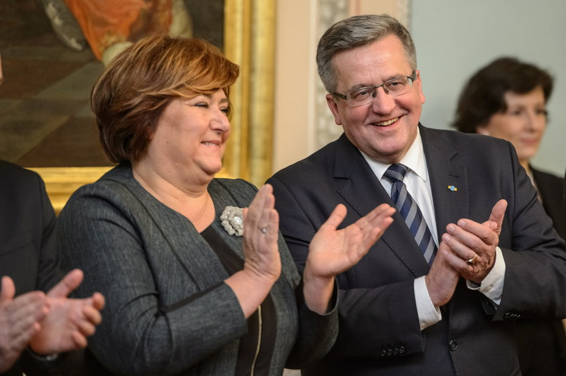 Prezydent Bronisław Komorowski z żoną Anną /Wojciech Pacewicz /PAP