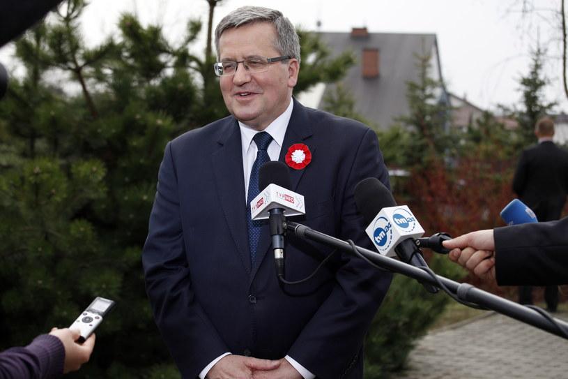 Prezydent Bronisław Komorowski /Artur Reszko /PAP