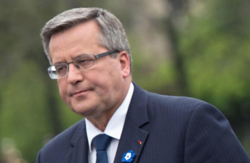 Prezydent Bronisław Komorowski /AFP