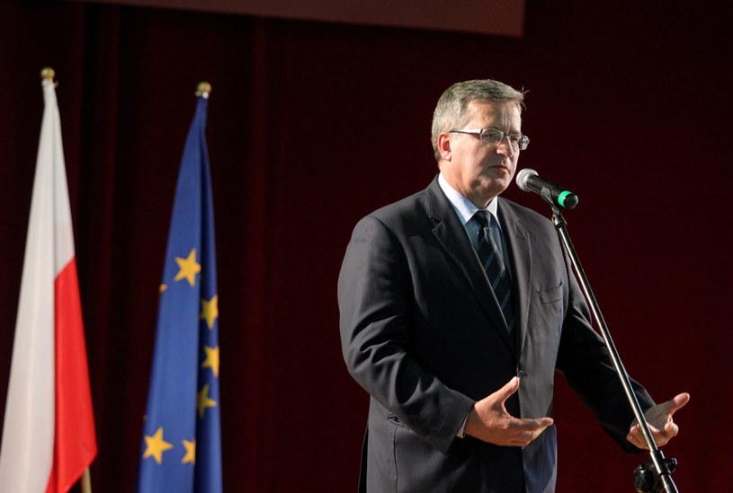 Prezydent Bronisław Komorowski /Tomasz Waszczuk /PAP