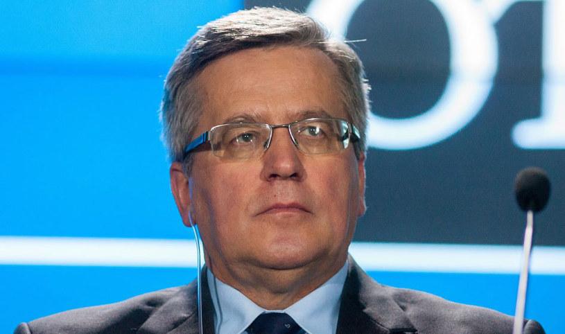 Prezydent Bronisław Komorowski. /Paweł Jaskółka /Reporter