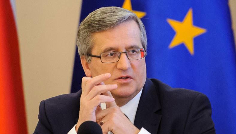 Prezydent Bronisław Komorowski. /Rafał Oleksiewicz /Reporter