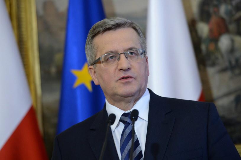 Prezydent Bronisław Komorowski. /Jacek Turczyk /PAP