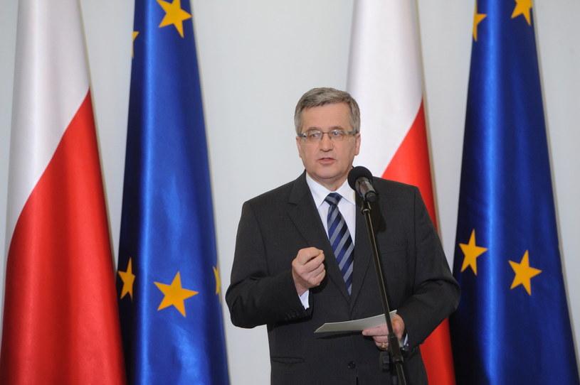 Prezydent Bronisław Komorowski. /Grzegorz Jakubowski /PAP