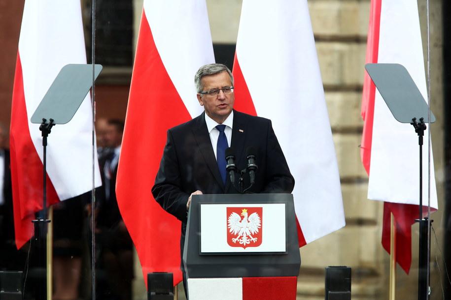 Prezydent Bronisław Komorowski /Tomasz Gzell /PAP