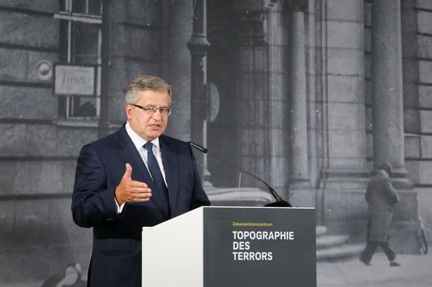 Prezydent Bronisław Komorowski /Paweł Supernak /PAP