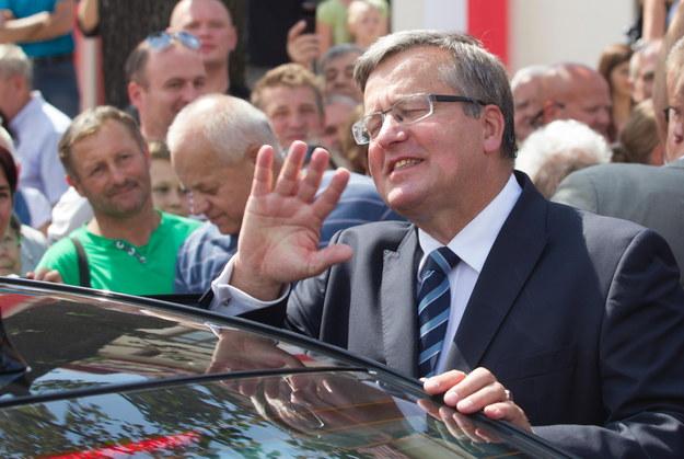 Prezydent Bronisław Komorowski. /Andrzej Grygiel /PAP