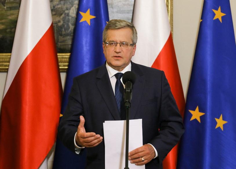 Prezydent Bronisław Komorowski. /Paweł Supernak /PAP