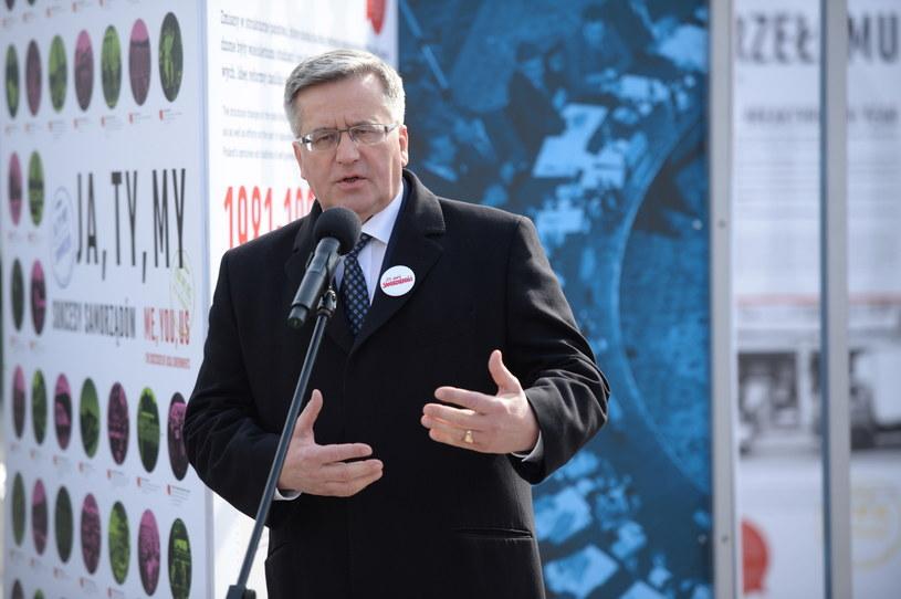 Prezydent Bronisław Komorowski /Jacek Tuczyk /PAP