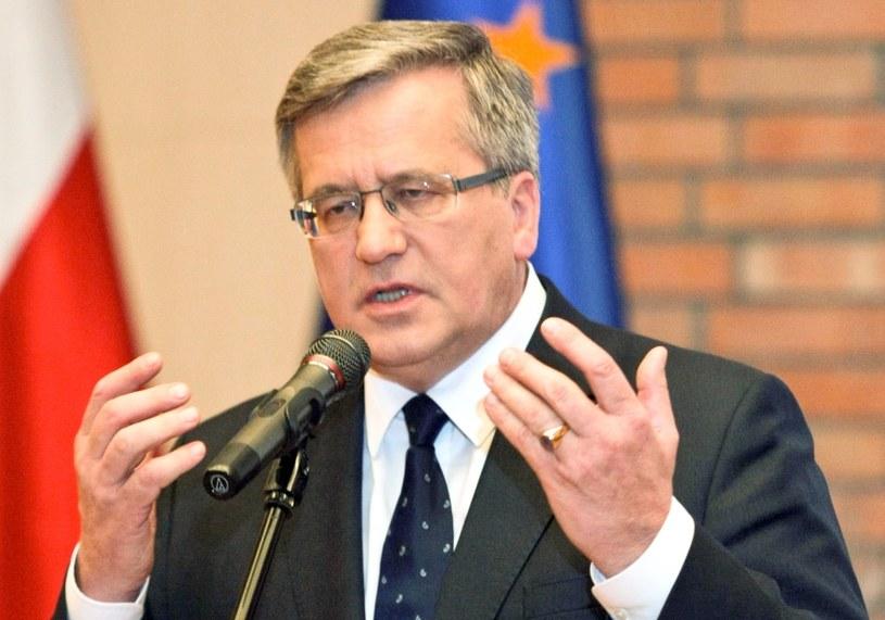 Prezydent Bronisław Komorowski /Lech Muszyński /PAP