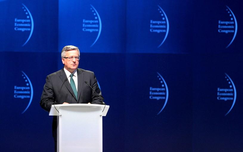 Prezydent Bronisław Komorowski /Andrzej Grygiel /PAP