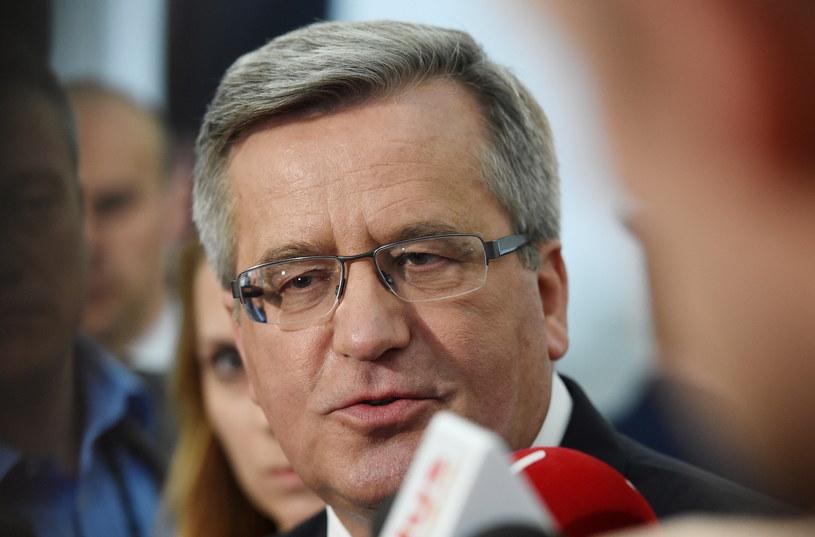 Prezydent Bronisław Komorowski /Radek Pietruszka /PAP