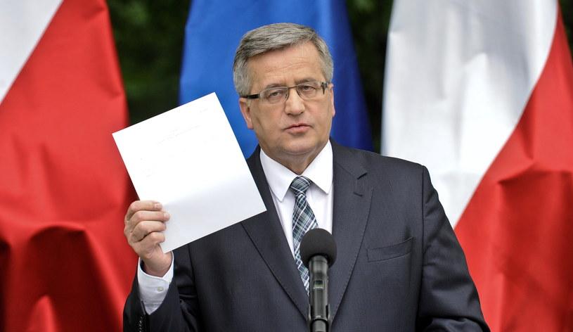 Prezydent Bronisław Komorowski /Marcin Obara /PAP
