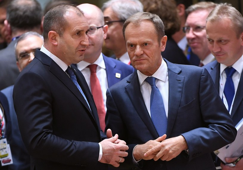 Prezydent Bułgarii Rumen Radew i Donald Tusk /East News