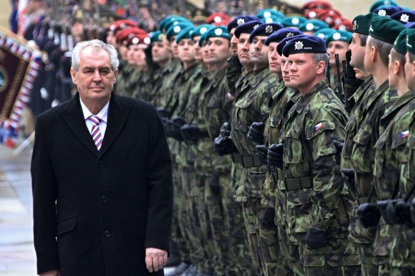 Prezydent Czech Milosz Zeman /AFP