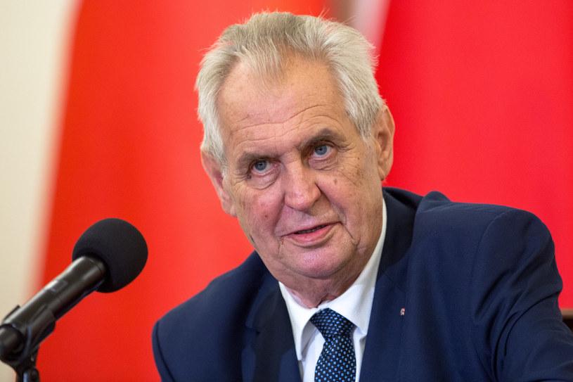 Prezydent Czech Milosz Zeman /fot. Andrzej Iwanczuk /Reporter