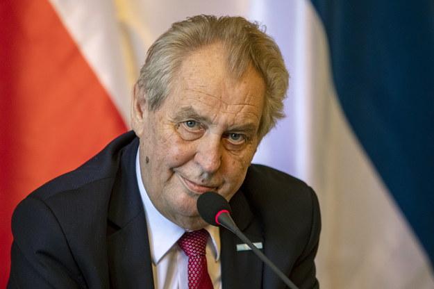 Prezydent Czech Milosz Zeman /Martin Divisek /PAP/EPA