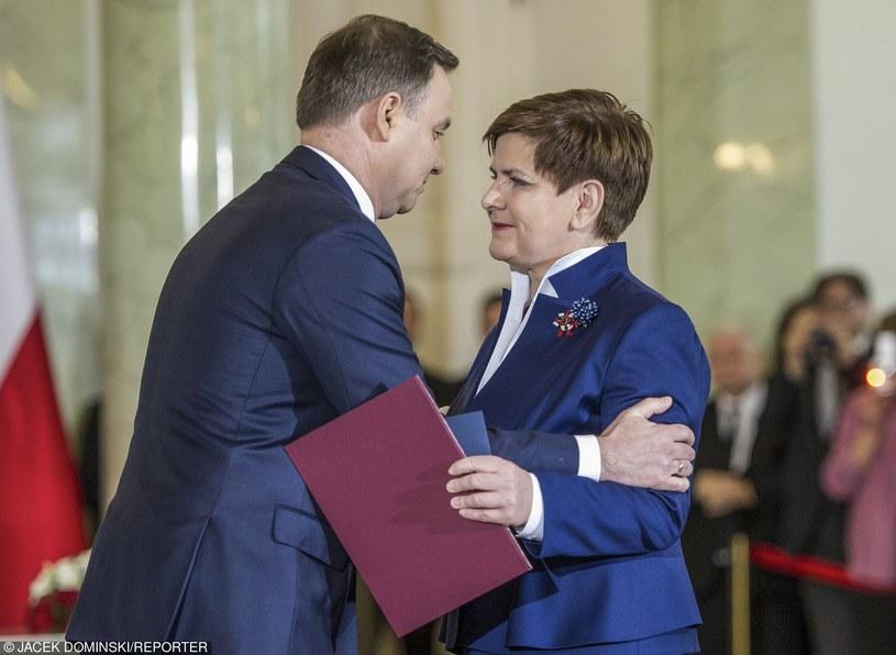 Prezydent Duda i Beata Szydło /Jacek Dominski/REPORTER /East News