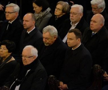 Prezydent Duda na pogrzebie Andrzeja Wajdy