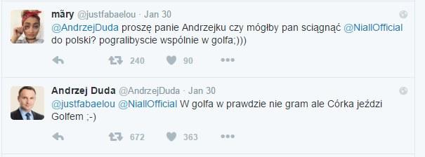 Prezydent Duda na Twitterze /
