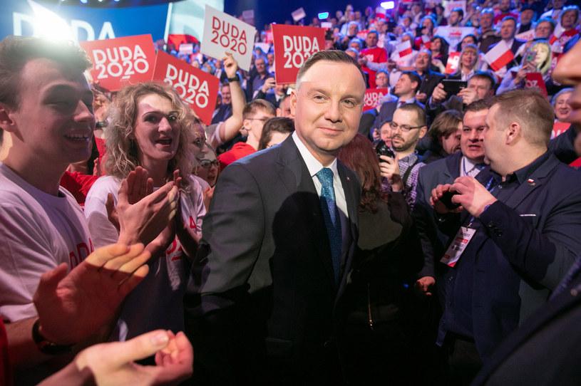 Prezydent Duda podczas konwencji /fot. Robert Gardzinski  /Agencja FORUM