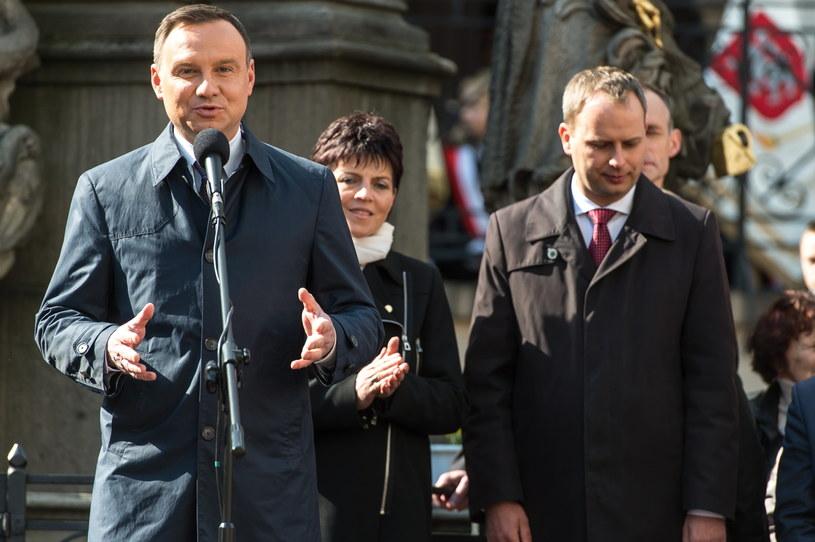Prezydent Duda przebywa z wizytą w województwie dolnośląskim /Maciej Kulczyński /PAP