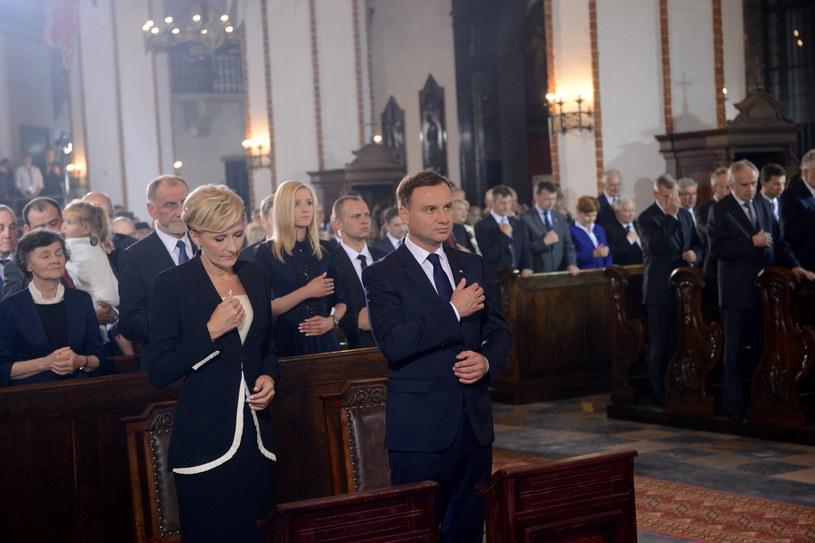 Prezydent Duda razem z żoną /Jakub Kamiński   /PAP