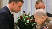 """Prezydent Duda uczcił weterana z """"Parasola"""""""